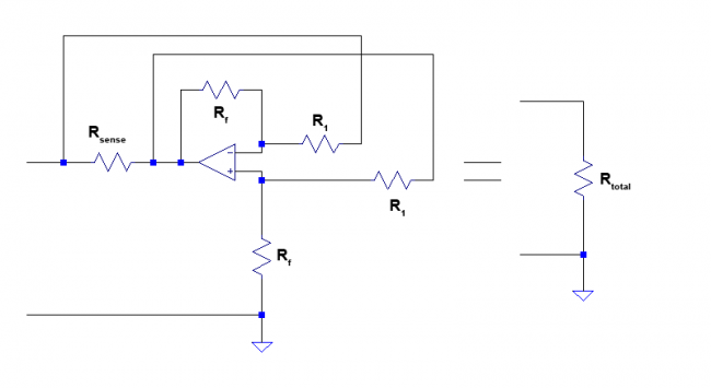 A negative resistor implemented using differential amplifier