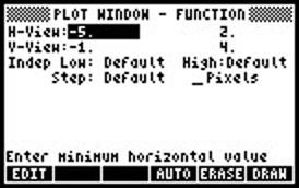 Screen capture of plot window menu
